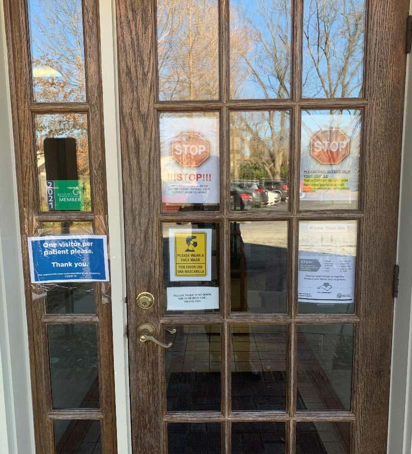 Front door of Cheshire Center