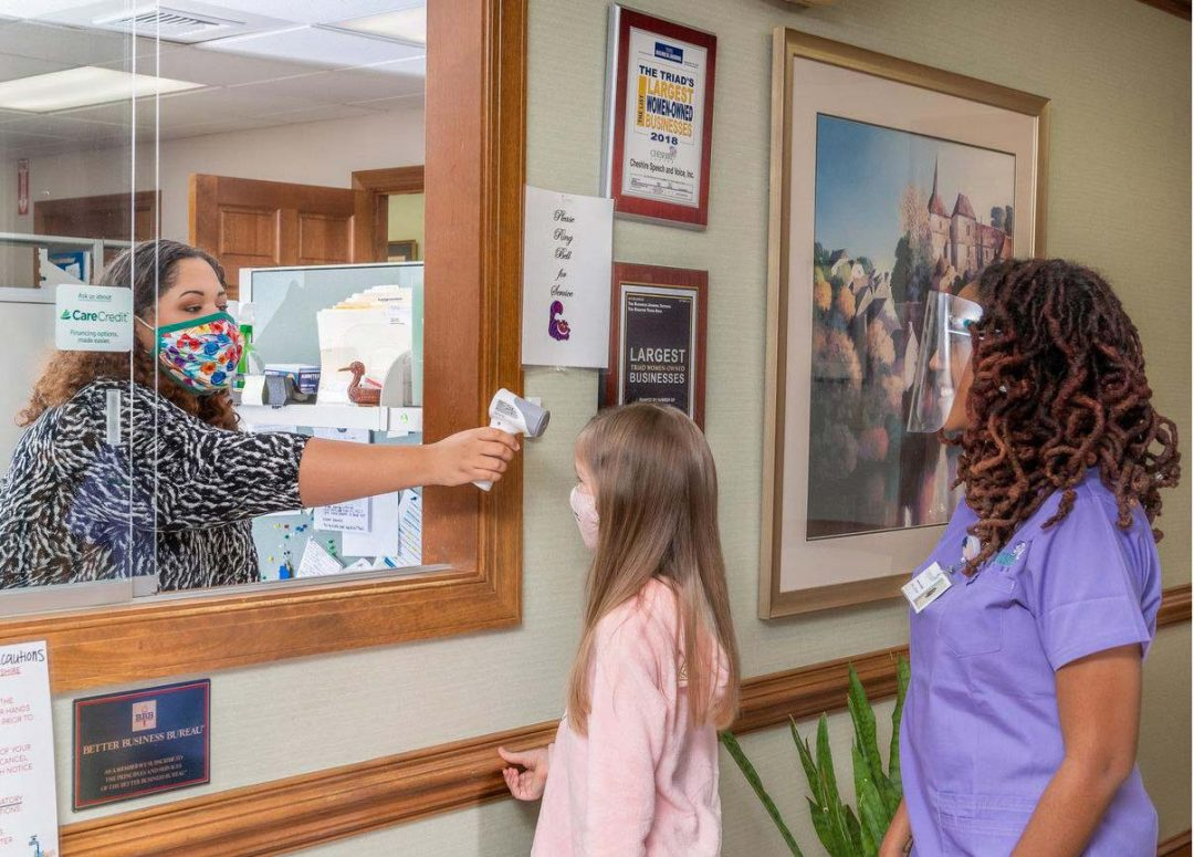 Cheshire Center therapists wear masks